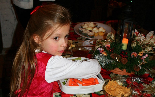 Little girl at Immanuel OPC Christmas party.