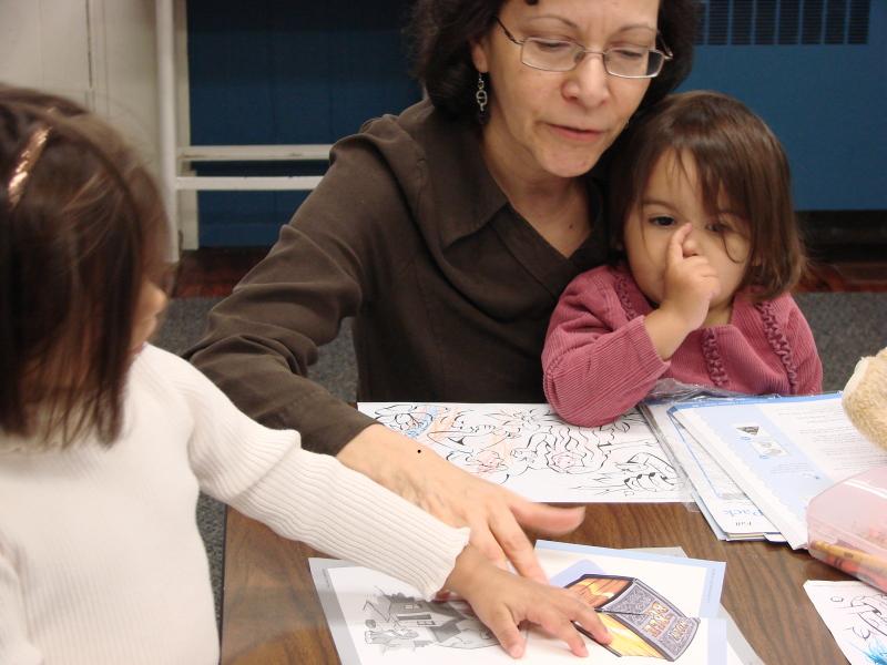 Little girls Sunday school at Immanuel OPC